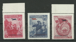 Jugoslawien 575/577 ** - 1945-1992 République Fédérative Populaire De Yougoslavie