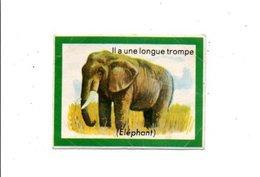 CHROMOS BON POINT - ANIMAUX - L'ELEPHANT - Assegni & Assegni Di Viaggio