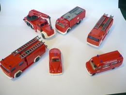 """6 Feuerwehr Autos """"Wiking""""  (575) - Andere Sammlungen"""