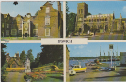Postcard - Ipswich - 4 Views - Posted Aug 1970 - VG - Unclassified