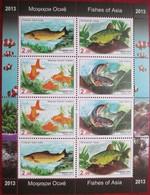 Tajikistan  2013  Fishes   M/S  MNH - Tajikistan