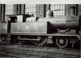 Railway Photo LMS 2P 10676 Horwich Works 1938 L&YR Aspinall 2-4-2T Loco - Eisenbahnen