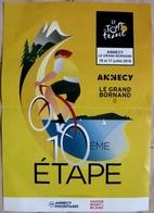 Tour De France 2018 - Affiche étape 10 Annecy Le Grand Bornand Vélo Sport Cyclisme Cycliste - Cycling