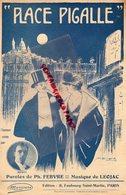 PARIS PLACE PIGALLE-PARTITION MUSIQUE -MONTY- FEBVRE- LEOJAC-ILLUSTRATEUR M. BRIARD- LIBRAIRIE THEO FRANCK IXELLES - Partitions Musicales Anciennes
