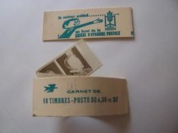 Vignettes Experimentales Palissy Sans Visage Sur 1 Timbre Carnet N° Pa16a Couverture Caisse Epargne - Phantom