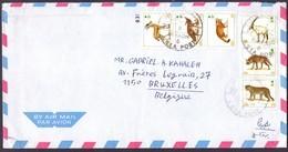 SAUDI ARABIA Mail Cover 6 Stamps Sent To Belgium Brussels - Saudi Arabia