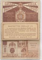 ENSEMBLE BISCUITS.  GAUFRETTES VANILLES LU  EN 1900 - Lu