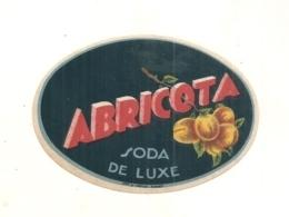 étiquette  - Petite étiquette Abricota - Litho - Soda De Luxe - à L'abricot - Fruits Et Légumes