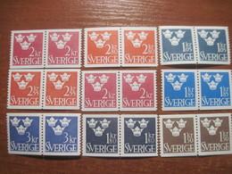 Sweden 1960-s Definitives Pairs  MNH - Sweden