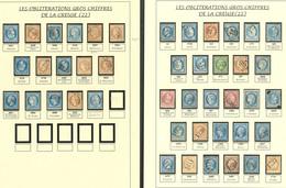 CREUSE. Collection De 44 Bureaux Dont Gc 2829 RAL, 4848, 4942, 6042, Etc. - TB - Marcophily (detached Stamps)