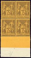 ** No 99a, Violet Sur Jaune, Bloc De Quatre Bdf, Très Frais. - TB - 1876-1878 Sage (Type I)