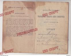 Au Plus Rapide Doulaincourt Haute Marne Livret Travail Des Enfants 23 Juin 1904 Employée Chez CONTANT - FORFILLIERE - Documents Historiques