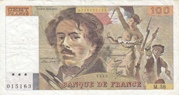 Billet 100 F Delacroix 1980 FAY 69.4b Alph. M.38 - 100 F 1978-1995 ''Delacroix''
