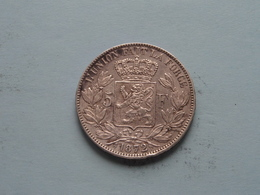 1872 - 5 Franc / KM 24 ( Uncleaned - For Grade, Please See Photo ) ! - 09. 5 Francs