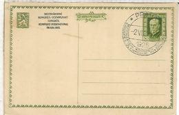 CHECOSLOVAQUIA 1925 ENTERO POSTAL CONGRESO OLIMPICO MAT ESPECIAL OLYMPIC CONGRESS - Juegos Olímpicos
