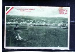 CARTOLINA VIAGGIATA IN ITALIA 24 9 1915 PRESIDIO MILITARE DI COLICO LA NUOVA ITALIA REDENTA TRIESTE PANORAMA CARD - Trieste