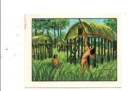 CHROMOS BON POINT - HABITAT HUMAIN - CASES D'INDIENS DU BRESIL - Chèques & Chèques De Voyage