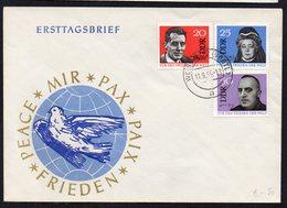 GERMANY DDR FDC TRAVELED ERSTTAGSBRIEF 1964. FRIEDEN PEACE MIR PAX PAIX - [6] Democratic Republic