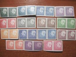 Sweden 1950-60-s Gustav VI Adolf Definitives Pairs MNH - Sweden