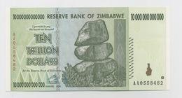 RESERVE BANK OF ZIMBABWE TEN TRILLION DOLLARS NEUF 2008 - Zimbabwe