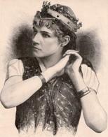 2 ESTAMPES LE MONDE ILLUSTRE*Mme Rose Caron BRUNEHILDE SIGURD M.Dochy M.Benque*La Mégre Apprivoisée SHAKESPEARE P.Delair - Prints & Engravings