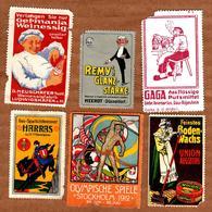 Timbres Divers Fantaisie - Olympique Spiele Stockolme 1912, Union Augsburg, Gaga, Harras, Remy's Glanz-Stärke, Weinessig - Vignettes De Fantaisie