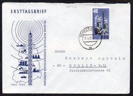 GERMANY DDR FDC TRAVELED ERSTTAGSBRIEF 1965. 20 JAHRE DEUTSCHER DEMOKRATISCHER RUNDFUNK - Cartas