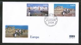 CEPT 2004 MT MI 1343-44 MALTA FDC - Europa-CEPT
