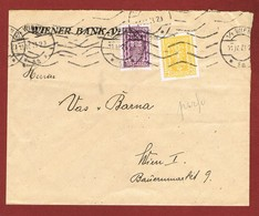Infla Ab 1. Nov 1922 Brief Lokalpost  Perfins W.B.V. - 1918-1945 1. Republik