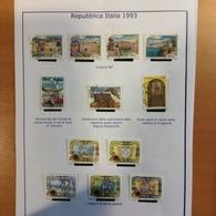 Italie Année 1993 - Oblitérés - N° 1986 + 1999 à 2040 - 1946-.. République
