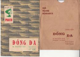 2 Pochettes Publicitaire Du Photographe Dong Da à Saigon Vietnam Indochine Cochinchine Annam Asie Photographie - Supplies And Equipment