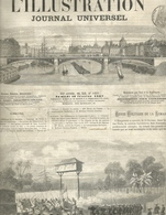 L' ILLUSTRATION 1251 - 16 FEVRIER 1867 GRAVURES CAMBODGE ESPAGNE MADRID ROME AUTEUIL MOLIERE LOUIS XIV - 1850 - 1899