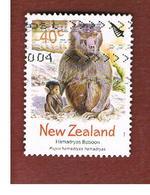 NUOVA ZELANDA (NEW ZEALAND) - SG 2665  -  2004 ZOO ANIMALS: HAMADRYAS BABOON  -  USED° - Nuova Zelanda