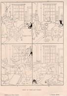 2 ESTAMPES  LA REVUE ILLUSTREE *Chien Et Chat   E.COURBOIN - Prints & Engravings