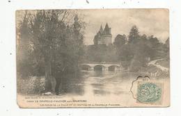 Cp , 24 , LA CHAPELLE-FAUCER Près BRANTOME , Les Bords De La Colle Et Le Château , Voyagée 1903, Dos Simple - France