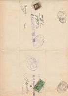 LETTERA 1933 DOPPIO VIAGGIO -25 CENT ANNO SANTO+30 CENT TIMBRO SORBOLI (Z170 - Marcophilie