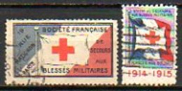Vignettes Militaires - 1914-15 - SOCIETE FRANCAISE DE SECOURS AUX BLESSES MILITAIRES - Commemorative Labels