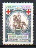 Vignette Militaire - 1916 - COMITE DE SEDAN - SOCIETE FRANCAISE DE SECOURS AUX BLESSES MILITAIRES - Croix Rouge
