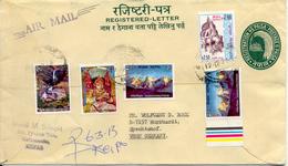 Lettre Recommande Vers Allemagne 1978. Cover Registered. Entier, Stationery. - Népal