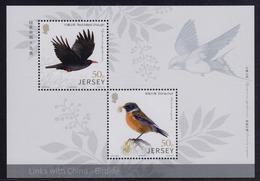Jersey 2018 - Links China Birdlife Mini/Sheet- Unmounted Mint NHM - Jersey