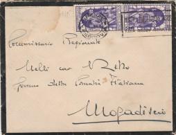 LETTERA CIRCA 1934 CON 2X50 CENT. DECENNALE FIUME -TIMBRO FIRENZE (Z219 - Marcophilia