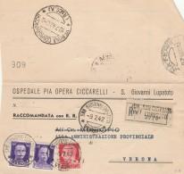 RACCOMANDATA 1942 CON 2X50+20 CENT TIMBRO SAN GIOVANNI LUPATOTO-VERONA (Z269 - 1900-44 Vittorio Emanuele III