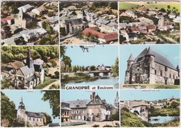 CPSM - GF - Multi Vues Grandpré Et Environs (Ardennes) Termes Chatel Chehery Mouron Ouzy Saint Juvin Cornay Senuc - Frankreich