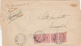 RACCOMANDATA 1919 CON 4X10 CENT. TIMBRO CONCORDIA-MIRANDOLA (Z285 - Marcophilie
