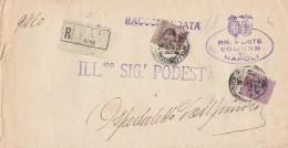 RACCOMANDATA 1929 CON 20+50 CENT. TIMBRO OSPEDALETTO AVELLINO (Z291 - 1900-44 Vittorio Emanuele III