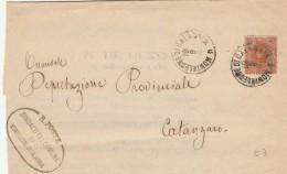 LETTERA FINE 800 CON 20 CENT. TIMBRO MONTELEONE DI CALABRIA (Z386 - Storia Postale