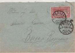 LETTERA 1926 CON 60 CENT. FRANCESCANO TIMBBRO PESCIA LUCCA (Z400 - 1900-44 Victor Emmanuel III.
