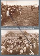 ATHLETISME : PHOTO (1949), CROSS DES NATIONS, DUBLIN, ALAIN MIMOUN S'IMPOSE, SPECTATEURS IRLANDAIS - Athlétisme