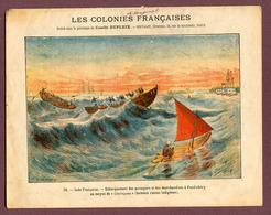 """COUVERTURE DE CAHIER : """" INDE FRANCAISE - PONDICHERY """" - Protège-cahiers"""