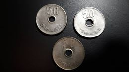 JAPAN Giappone 3 X 50 Yen 1967-1968-1969 D.6872-6874 - Giappone